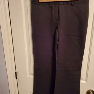 Navy twill THEORY flared pants